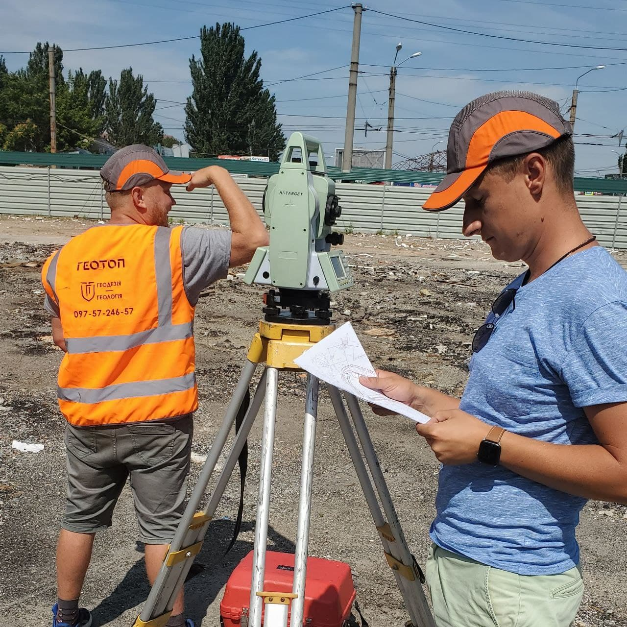 Topographic survey at a scale of 1 to 500 in Dnipro