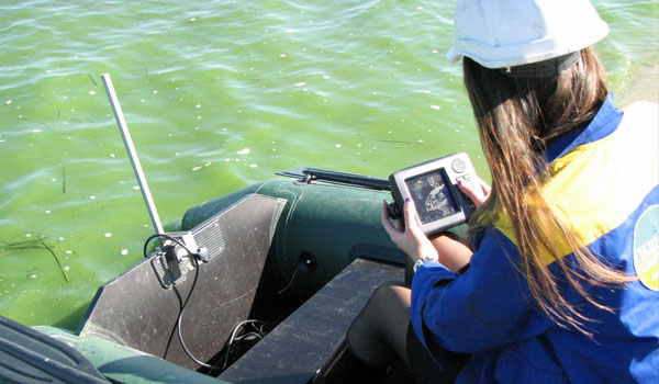 Sonar-instruments to measure the depth of water
