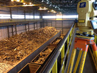 Measurement of scrap metal in the warehouse with the counting of volume, measurement of volume of scrap metal