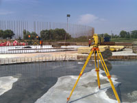 Geodetic support of construction, construction works