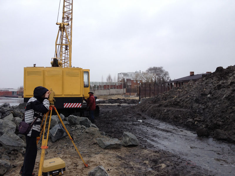 Geodetic works Kharkov, topographic survey of the land, the carrying out of the boundaries of the site