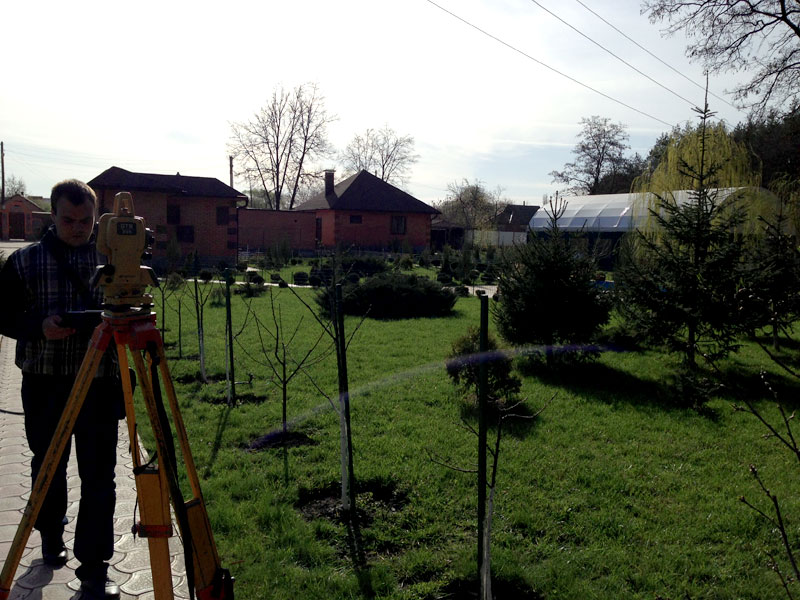 Topographic survey of the land plot in Kharkiv