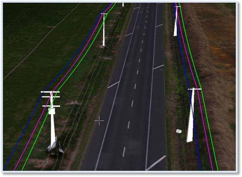 the Determination of the coordinates of the transmission lines and their parameters using drones and drones