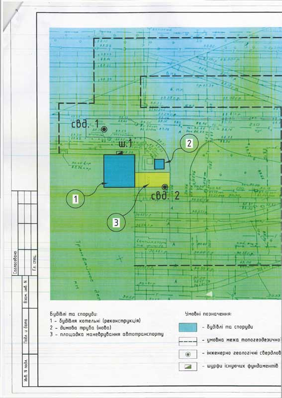 Technical specification for topographical surveys