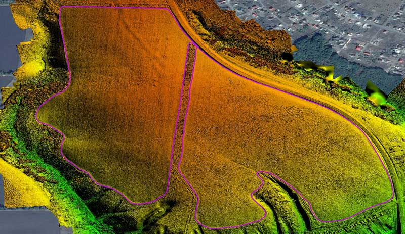 Visualization and estimation of the parameters of NDVI using drones and drones