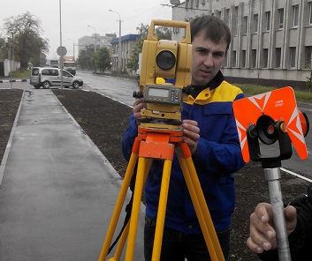 Surveying in construction of roads